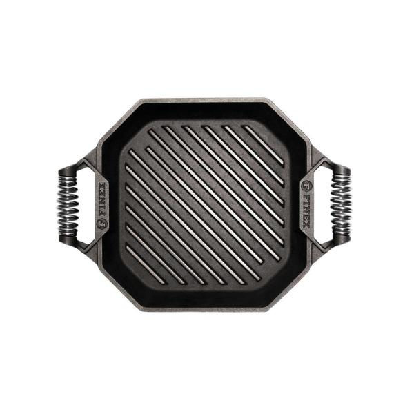 Cast Iron Collection 12 in. Cast Iron Grill Pan in Black