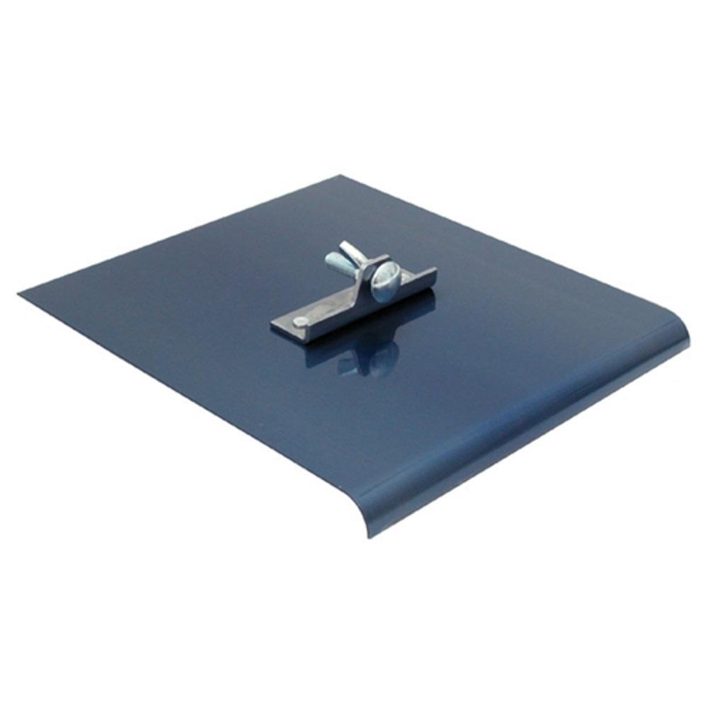 9 in. x 10 in. Blue Steel Walking Edger 1/4 in. radius 3/8 in. lip