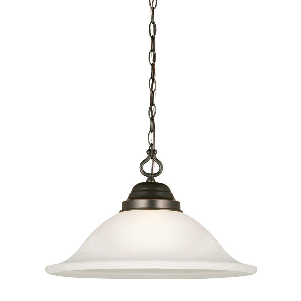 Design House Millbridge 14-3/4 in. 1-Light Oil-Rubbed Bronze Swag Light