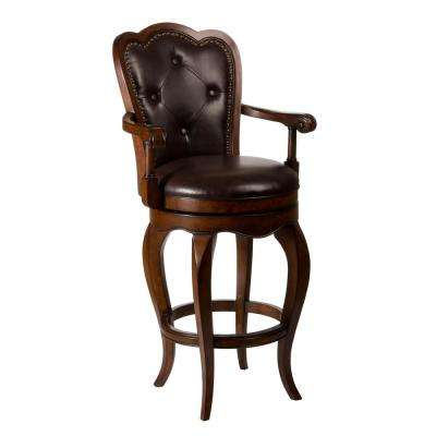 Eastwind 30 in. Dark Cherry Swivel Cushioned Bar Stool
