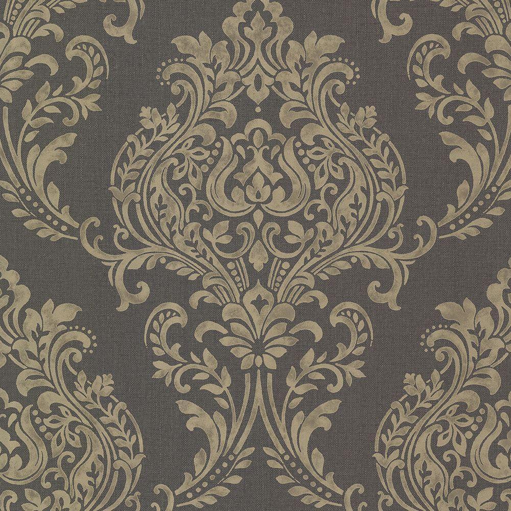 Brewster Diane Charcoal Texture Wallpaper