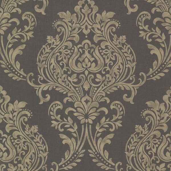 Brewster Diane Charcoal Texture Wallpaper 2686-22015