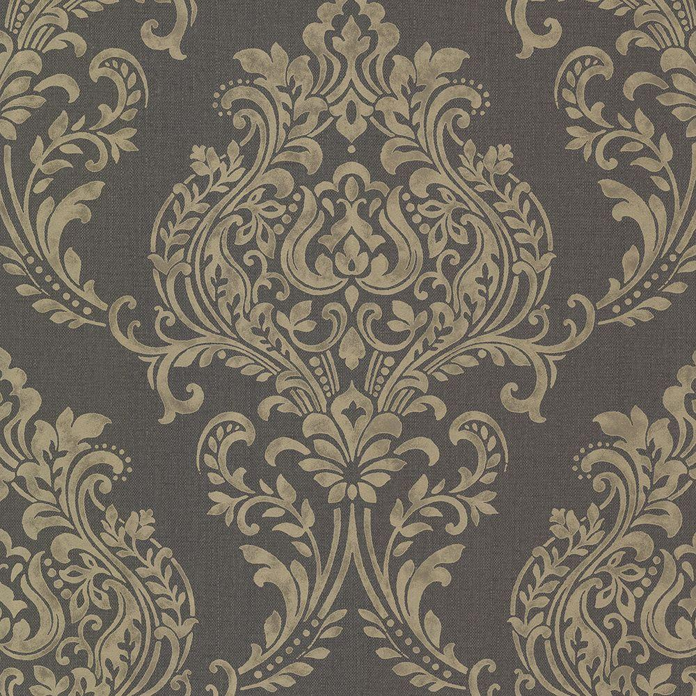 Diane Charcoal Texture Wallpaper Sample