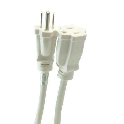 8 ft. Outdoor Extension Cord with Power Block, White