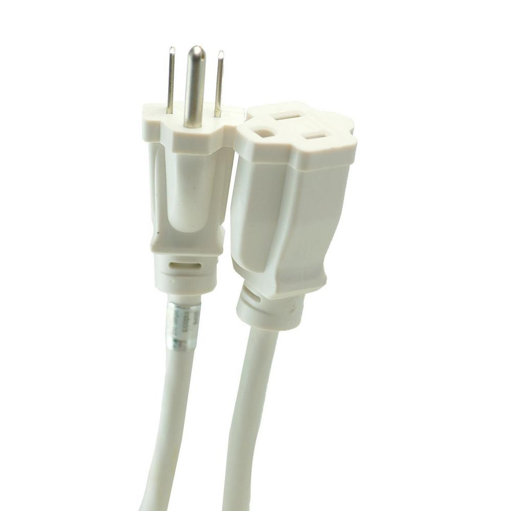 Southwire 8 ft. 16/3 Outdoor Extension Cord, White-277563 - The Home ...