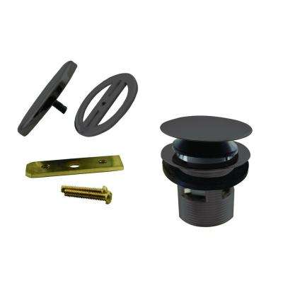 1-1/2 in. NPSM Integrated Overflow Round Tip-Toe Bath Drain with Illusionary Overflow Cover, Oil Rubbed Bronze