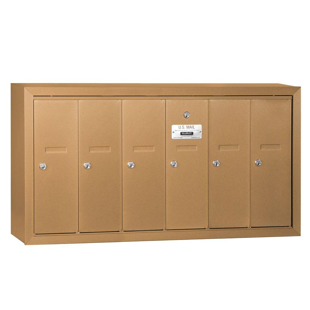 Salsbury Industries Brass Surface-Mounted Usps Access Ver...