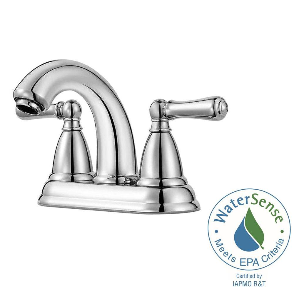 Pfister Canton 4 in. Centerset 2-Handle Bathroom Faucet in Polished ...