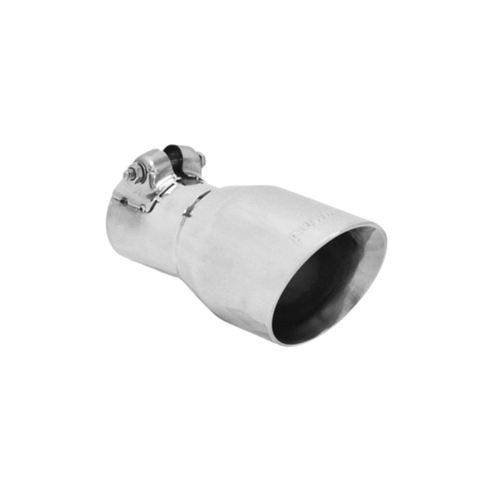 Flowmaster Exhaust Tip - 3 00 In Angle Cut Polished Ss Fits 2 00 In Tubing  (Clamp On)