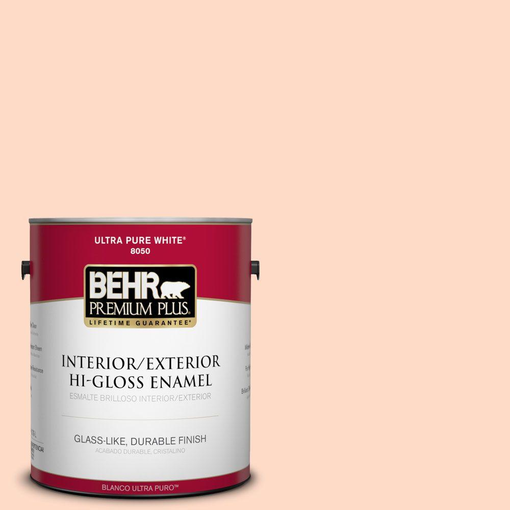 BEHR Premium Plus 1-gal. #230A-2 Beach Trail Hi-Gloss Enamel Interior/Exterior Paint