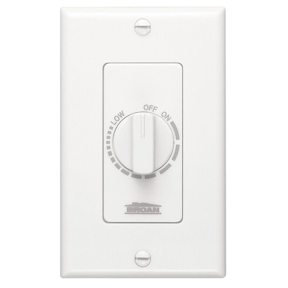 Electronic Variable-Speed Fan Control in White