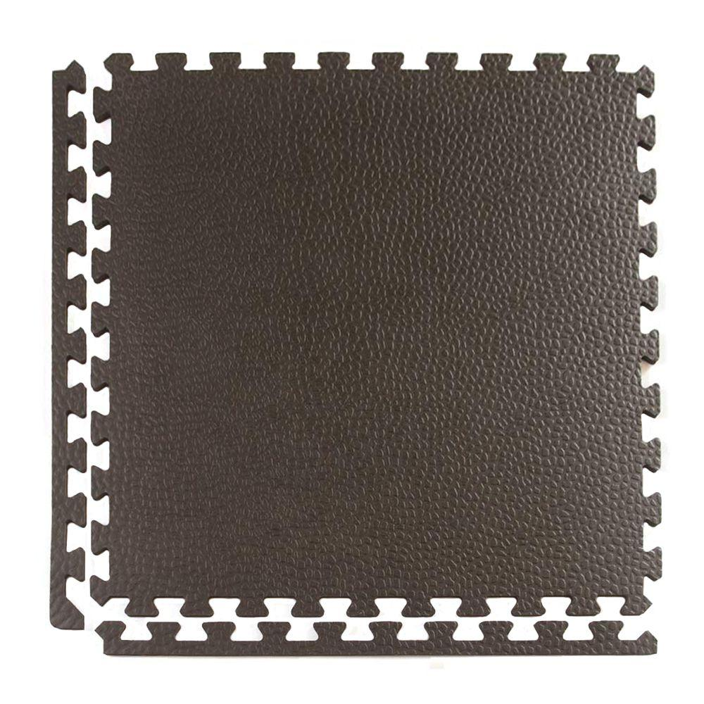 Greatmats Pebble Top Lite Black 24 in. x 24 in. x 0.39 in. Foam Home ...
