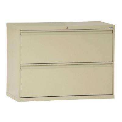 800 Series 30 in. W 2-Drawer Full Pull Lateral File Cabinet in Putty