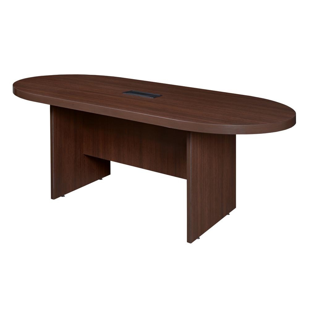 Regency Legacy In Java Racetrack Conference Table With Power - Conference table with power and data
