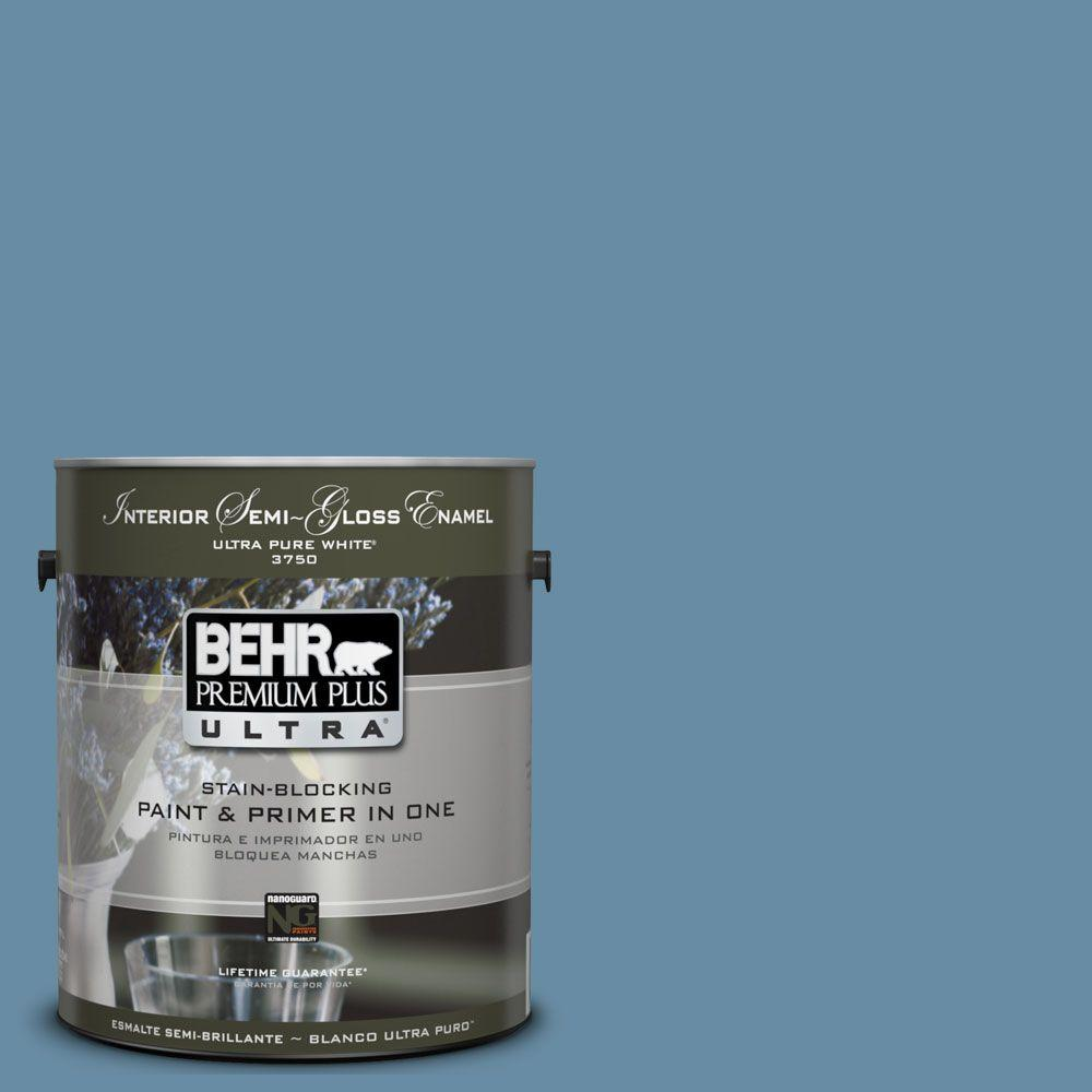 BEHR Premium Plus Ultra 1-gal. #UL230-18 French Court Interior Semi-Gloss Enamel Paint