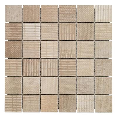 Lungo Sand 11.81 in. x 11.81 in. 10mm Matte porcelain Floor and Wall Mosaic Tile (0.97 sq. ft. per Sheet)