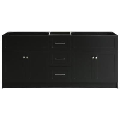 Hamlet 72 in. W x 21.5 in. D x 33.5 in. H Bath Vanity Cabinet Only in Black