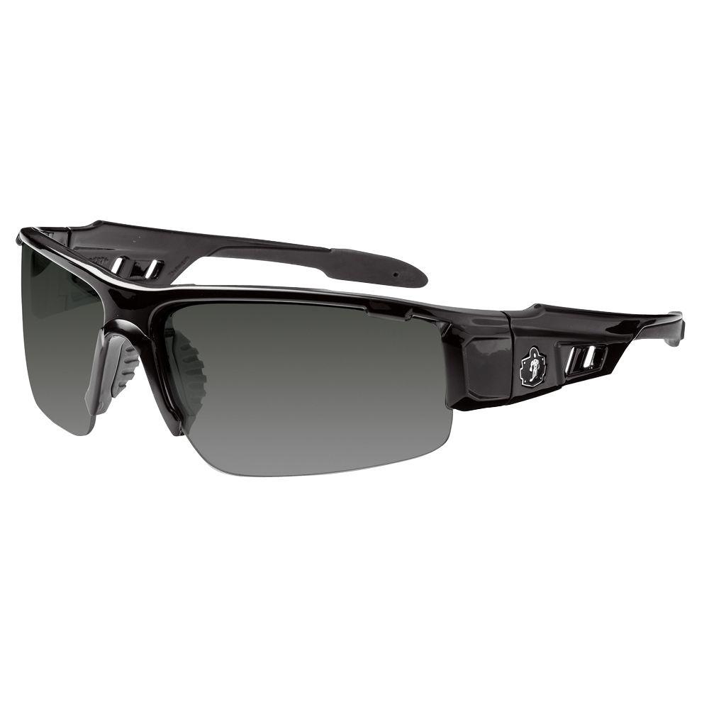 Smoke Lens Black Safety Glasses
