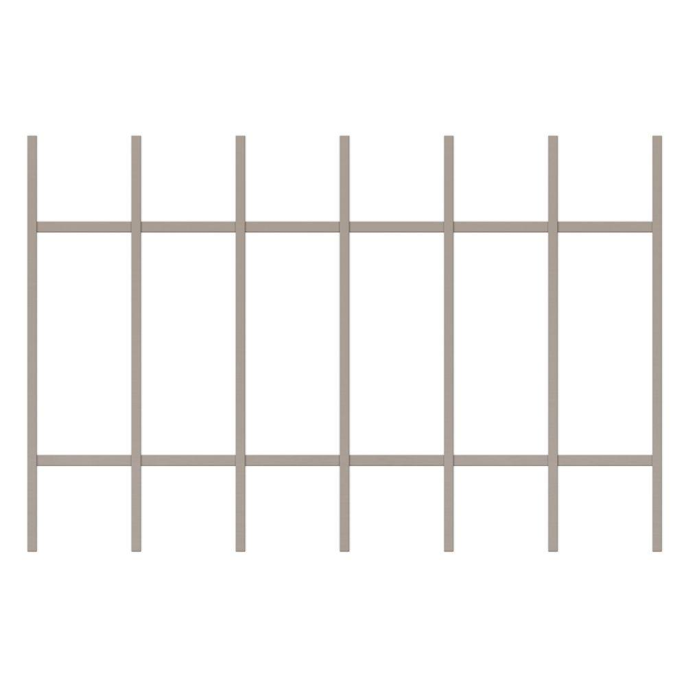 Unique Home Designs Guardian 36 in. x 24 in. Tan 7-Bar Window Guard-DISCONTINUED