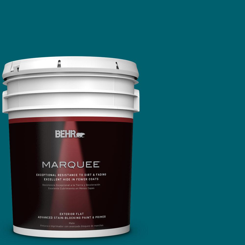 BEHR MARQUEE 5-gal. #S-H-520 Peacock Tail Flat Exterior Paint