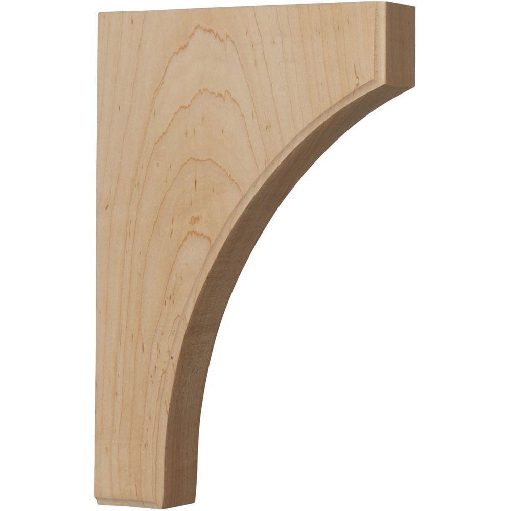 1-3/4 in. x 8 in. x 12 in. Unfinished Wood Red Oak Clarksville Corbel