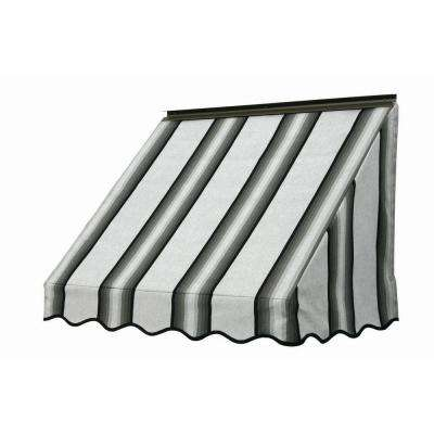 3 ft. 3700 Series Fabric Window Awning (28 in. H x 24 in. D) in Grey/Black/White
