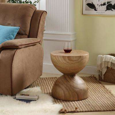 Natural Modern Design Round End Table