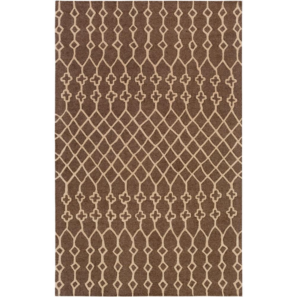 Ghana Jayden Chocolate Brown 8 ft. x 10 ft. Indoor Area