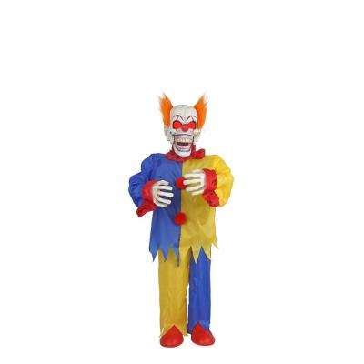 36 in. Animated Scary Clown with LED Eyes