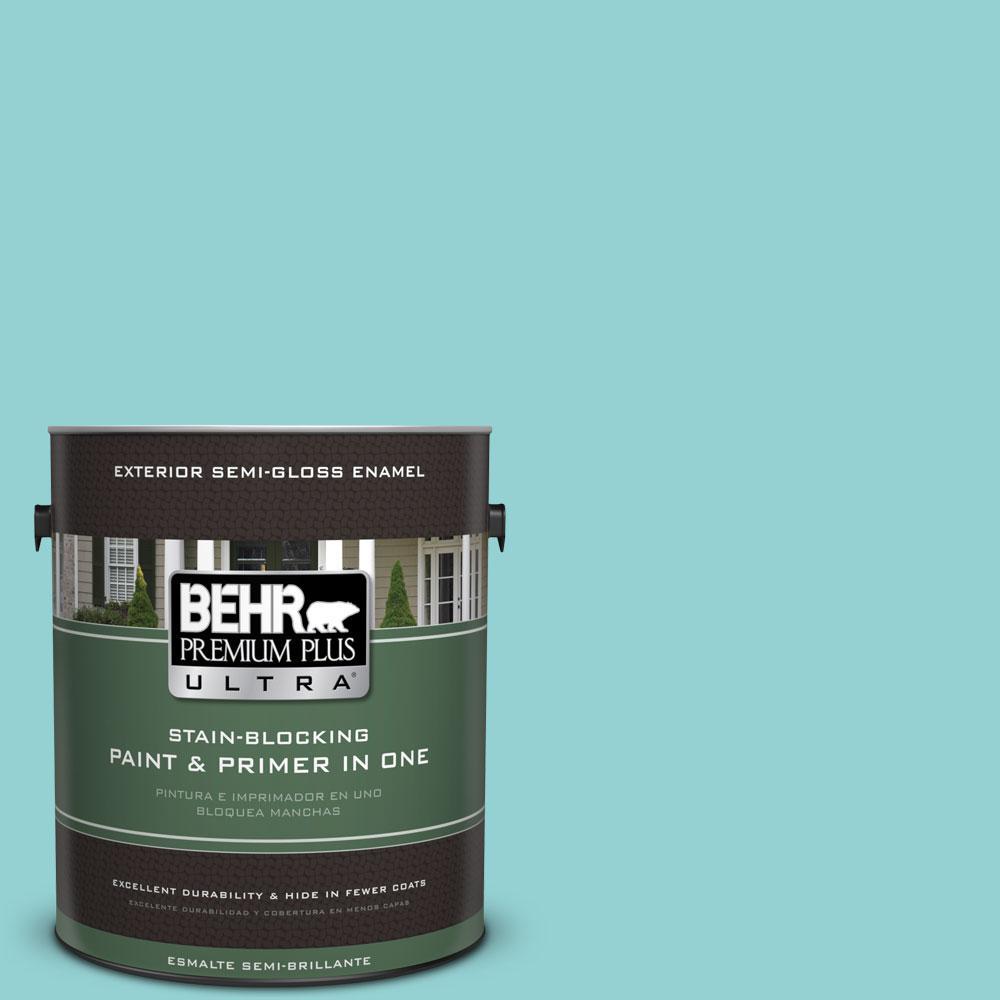 BEHR Premium Plus Ultra 1-gal. #M460-3 Big Surf Semi-Gloss Enamel Exterior Paint