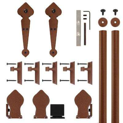 Spade New Age Rust Rolling Door Hardware Kit for 3/4 in. to 1-1/2 in. Door