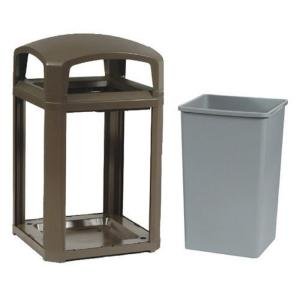 Rubbermaid Commercial Products Landmark Series 35 Gal. Domed Frame Trash Can with Rigid Liner by Rubbermaid Commercial Products