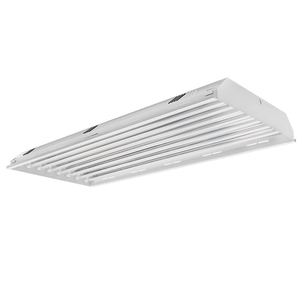 4 ft. 8-Light LED White High Bay 4000K (LED Tubes Included)