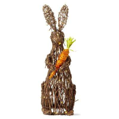 26 in. Easter Light Up Vine Bunny