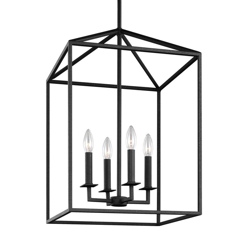 Perryton 12.25 in. W. 4-Light Blacksmith Hall-Foyer Pendant