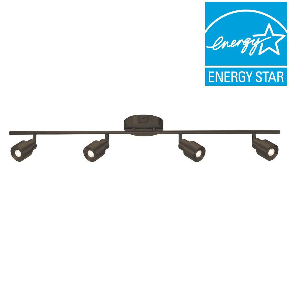 Radionic Hi Tech Orly 4-Light Oil Rubbed Bronze LED Fixed Track Lighting