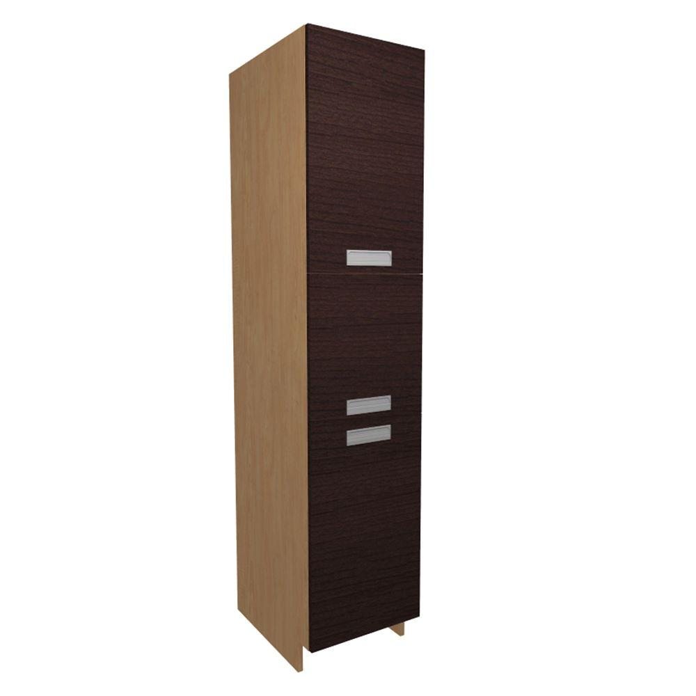 Home Decorators Collection Genoa Ready to Assembled 18 x 84 x 21 in. Pantry/Utility Cabinet with 2 Soft Close Doors in Espresso, Espresso Melamine