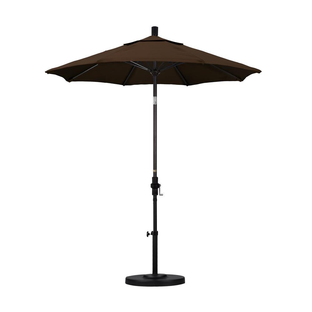 7-1/2 ft. Fiberglass Collar Tilt Double Vented Patio Umbrella in Mocha Pacifica