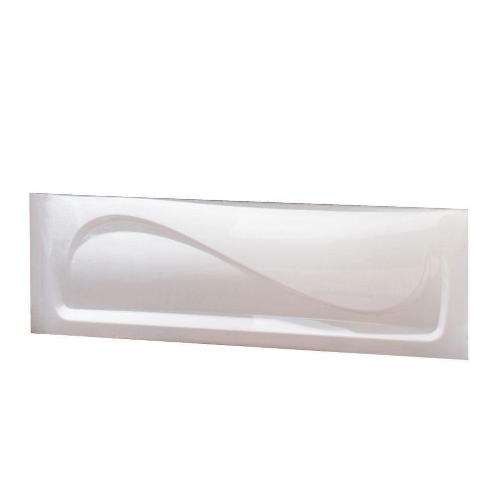 MAAX 5 ft. Apron for Cocoon 6032 Rectangular Bathtub in White from ...