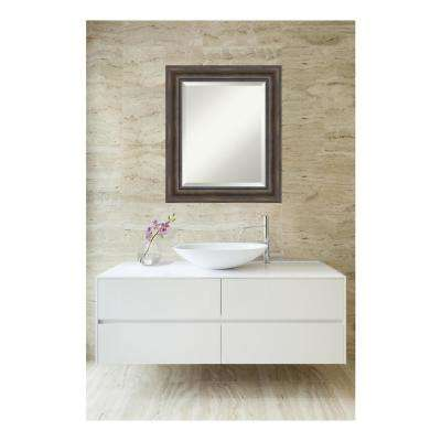 Rustic Pine Wood 22 in. W x 26 in. H Single Distressed Bathroom Vanity Mirror