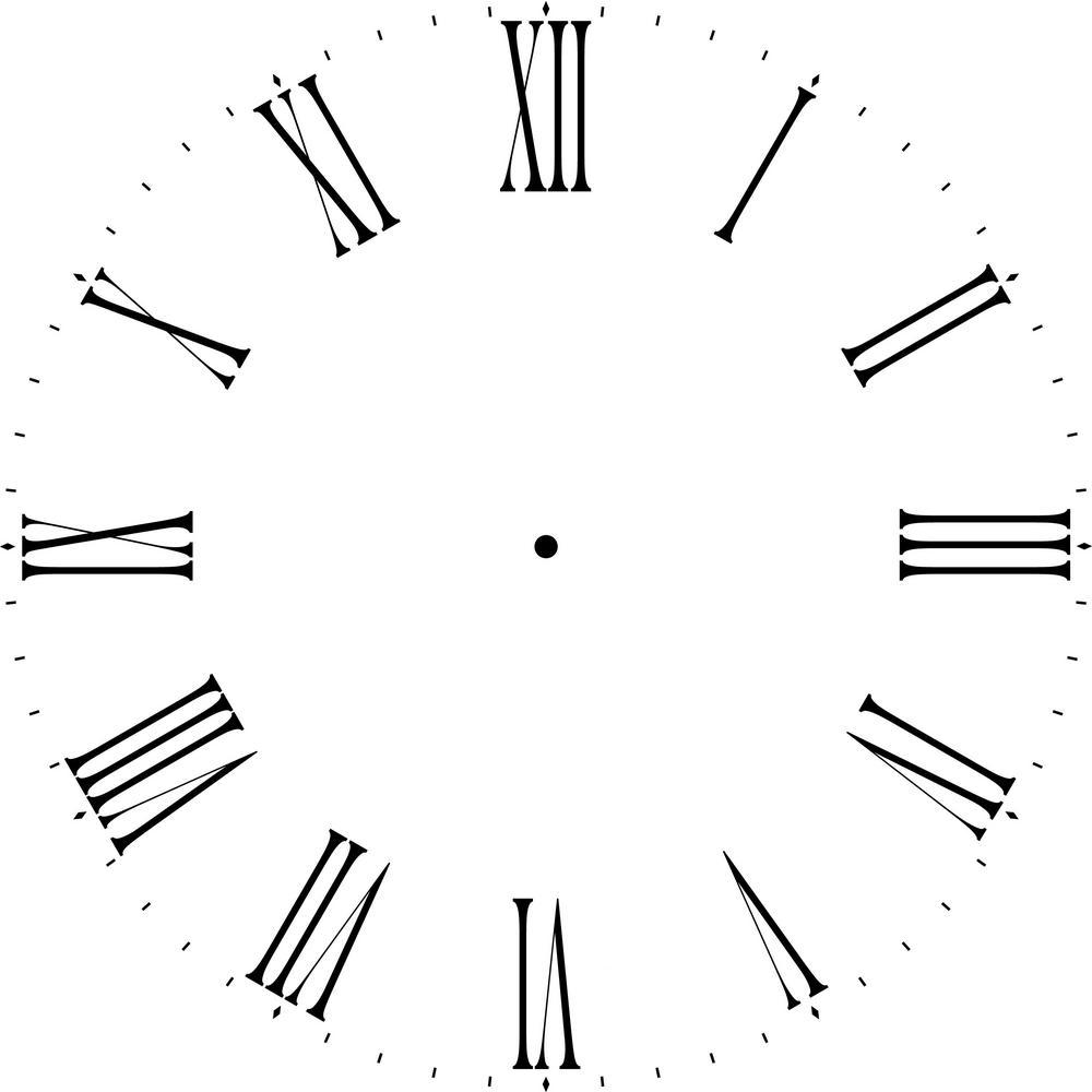 Thin Roman Numeral 18 in. Clock Stencil