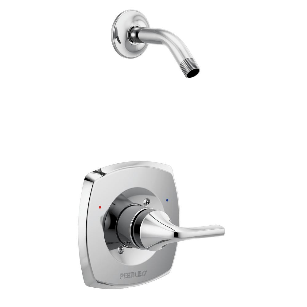 Parkwood 1-Handle Wall-Mount Shower Faucet Trim Kit in Chrome (Valve and Shower Head Not Included)