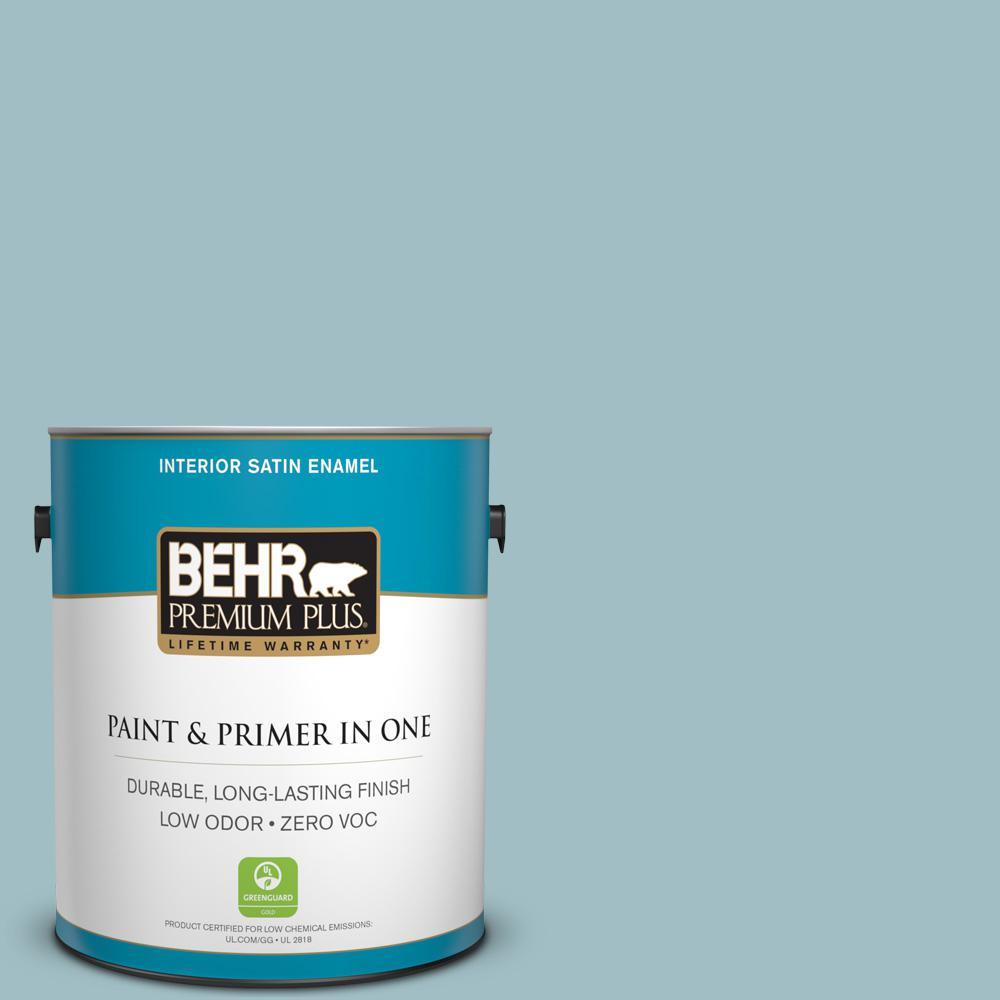 1 gal. #PPU13-11 Clear Vista Zero VOC Satin Enamel Interior Paint