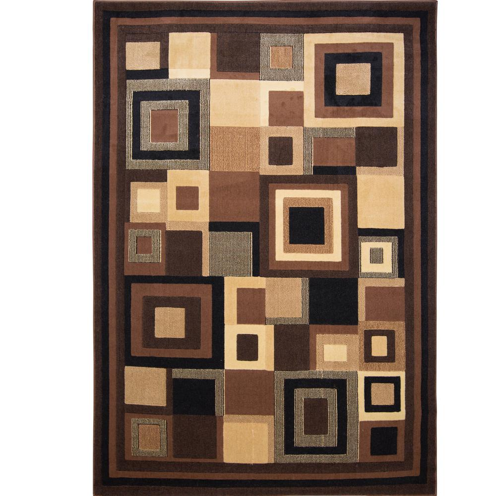 Catalina Black/Brown 7 ft. 10 in. x 10 ft. 2 in.