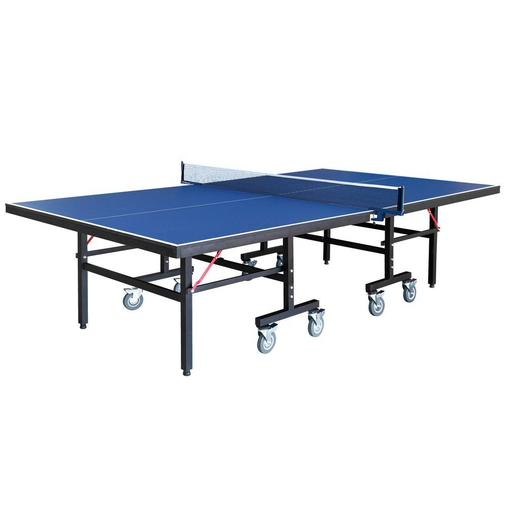 Back Stop 9 ft. Table Tennis for Family Game Rooms with