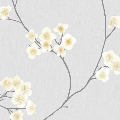Grey and Ochre Radiance Removable Wallpaper
