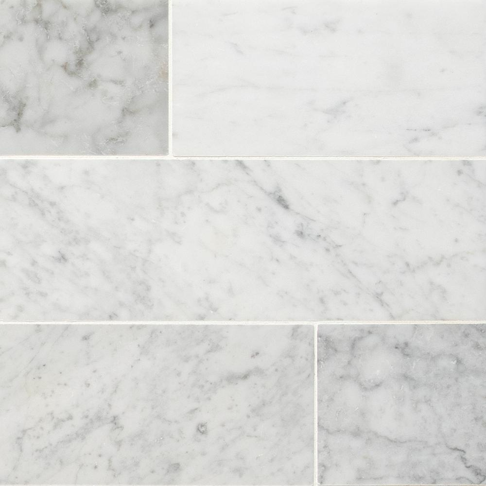 Msi Carrara White 4 In X 12 Honed Marble Floor And Wall Tile