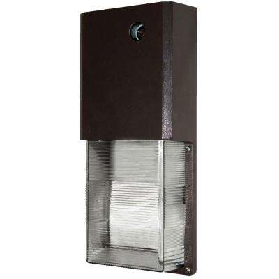 9-Watt Bronze Outdoor Integrated LED Wall Pack Light