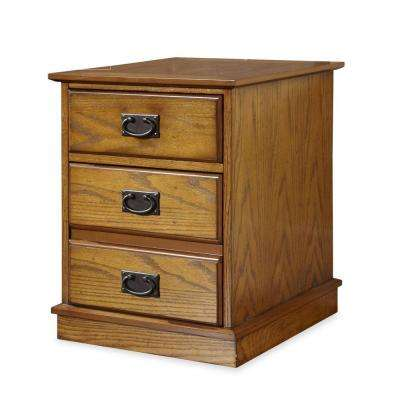 Modern Craftsman Distressed Oak File Cabinet