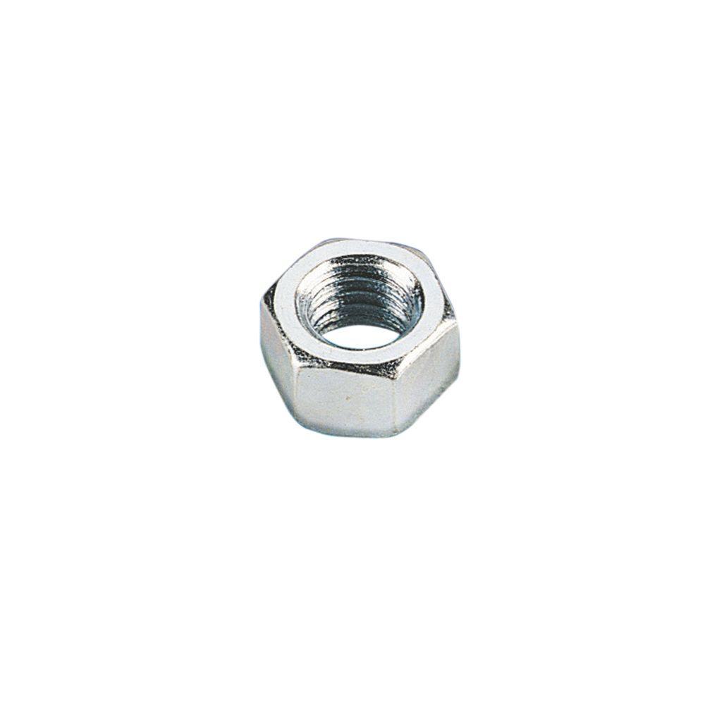 3/8 in. Steel Standard Strut Hex Nut - Silver Galvanized (10-Pack)